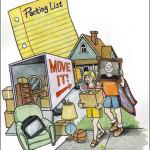 Moving Day Mixed Media Illustration