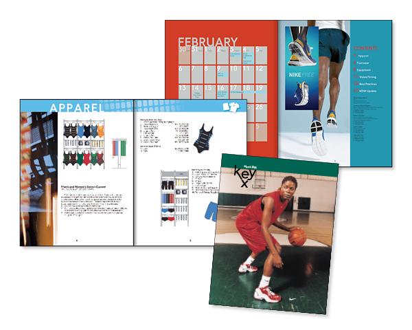 Nike store merchandising guide crow creative for Nike brochure design