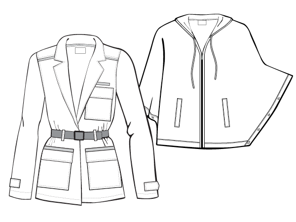 Women's Jacket Illustrations