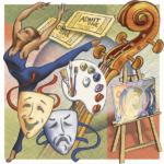 Arts Editorial Illustration