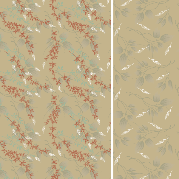 Gold Floral Patterns