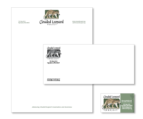 Clouded Leopard Project Stationary
