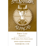 Alpaca Farm Business Card
