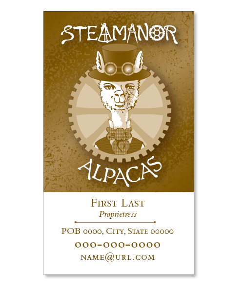 Alpaca Farm Business Card