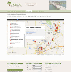Rental Properties Map Page