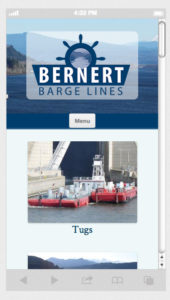 Barge Line Mobile Screen