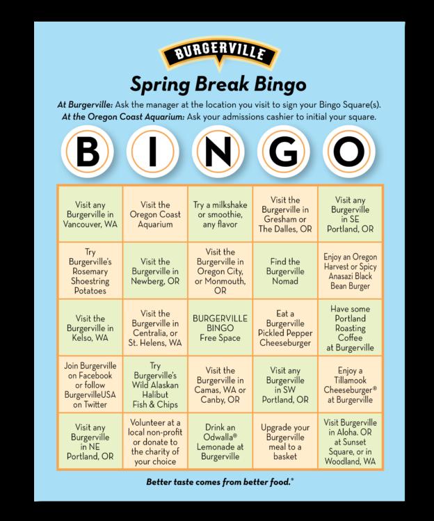 Promotional Bingo Card